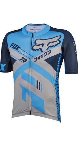Fox Ascent Pro Koszulka kolarska, krótki rękaw Mężczyźni szary/niebieski
